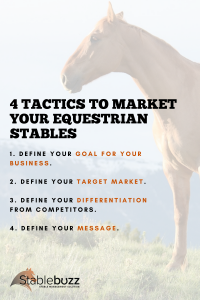 Marketing Equestrian Stable Horse