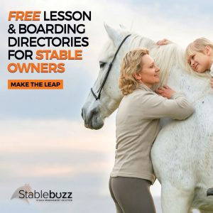 Picture advertising free lesson and boarding directories for stable owners